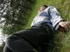 Vytas Dekšnys šiltai sutiktas prie Anykščių raj. ribos. Poezijos pavasaris, 2009 gegužės 29 d.