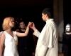 """Iš spektaklio """"Šokis su likimu"""" - Rašytojo ir gyvybės šokis, spektaklio atlikėjai Saulė Bartkevičiūtė, Irmantas Pilis, Ugnė Narkevičiūtė, Elijus Žekonis ir Evelina Bernatonytė-2400"""