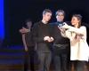 """Iš spektaklio """"Šokis su likimu"""", spektaklio atlikėjai Algirdas Gricius, Evita Sėrikovaitė, Ignas Sakalauskas ir Kristupas Stružas-2400"""