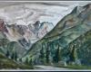 A. Galdikas Kalnu peizazas