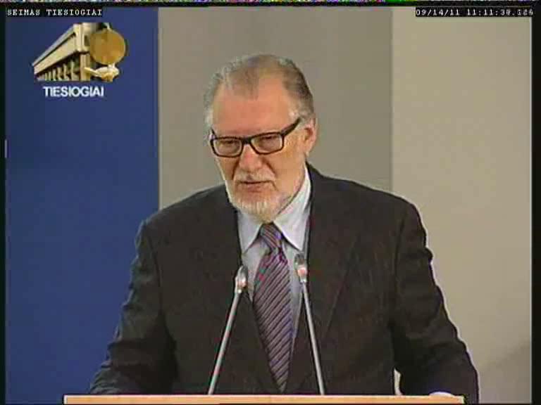 Juozas Budraitis | lrs.lt TV transliacijos nuotr.