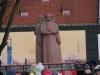 Šalia Laisvės statulos vis dar tebesipuikuoja paminklas trims raudoniesiems šauliams |  Alkas.lt, J.Vaiškūno nuotr.