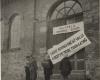 Bado streikas Kempteno stovykloje, siekiant priminti pasauliui apie lietuvių tautos tragediją. 1947 (LNM archyvo nuotr.)