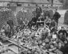 Malkų ruošimas žiemai. Eichštetas-Rebdorfas, 1947 m. (J. Gaidžio nuotr., LNM)