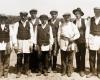 Vestuvių pabroliai iš Virbališkių kaimo, Kupiškio valsčiaus. 1930 m.B. Buračo nuotr.