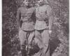 1946 m. Vytauto apygardos Lokio rinktinės partizanai Andrius Dručkus-Kerštas su pusbroliu Vytautu Dručkum-Šernu-2400