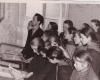 1961 m. Rokiškio r. Aleksandravėlės septynmetės mokyklos mokytojas Andrius Dručkus su mokiniais Scan_20180319_135555_002-2400
