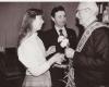 1988 m. Andrius Dručkus Sąjūdžio suvažiavimo deleguotas pasveikinti buv. Lietuvos užsienio reikalų ministrą Juozą Urbšį.Scan_20180320_112505-2400