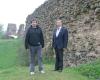 2006 m. su dailės istoriku Gintautu Žalėnu Krėvos pilyje, Baltarusijoje IMG_3263-2400