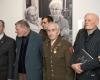 2018 m. (iš kairės) partizanai Andrius Dručkus, Jonas Kadžionis, Juozas Jakavonis, Kazimieras Pečiukonis Vilniuje, parodos LAISVŲJŲ TESTAMENTAI atidaryme 17-44-53-2400