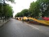 Didžioji vėliava nusidriekė per visą pagrindinę gatvę