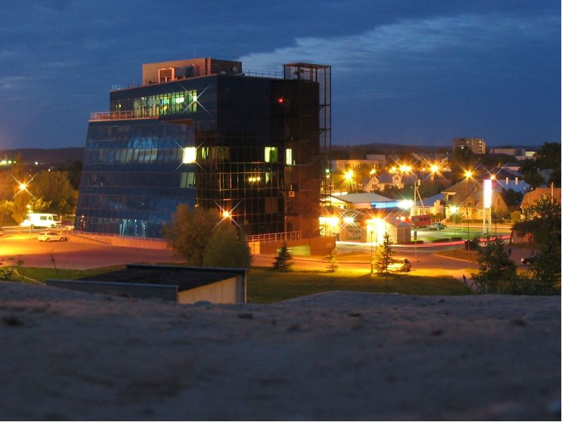 Alytaus miesto nakties žiburiai. M.Gudzinevičiaus nuotr.