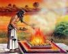 Ugnies ritualo vaizdavimai Indijos mene. R. Balkutės nuotraukos.