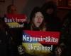07Ukrainos palaikymo akcija prie Ukrainos ambasados Vilniuje 2016 m. sausio 4 d. | Alkas.lt, T. Baranausko nuotr.