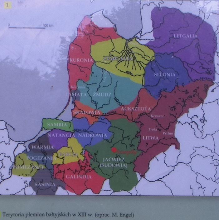 Baltų gentys XIII a.