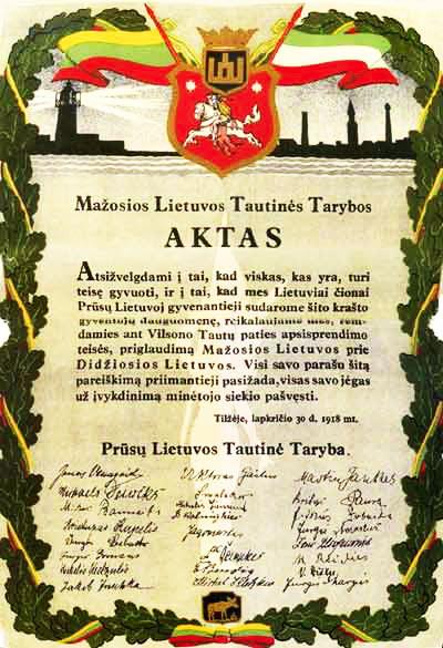 Tilžės aktas | archyvinė nuotr.