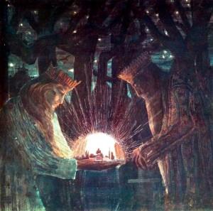 M. K. Čiurlionis. Karalių pasaka (1908-9 m.)