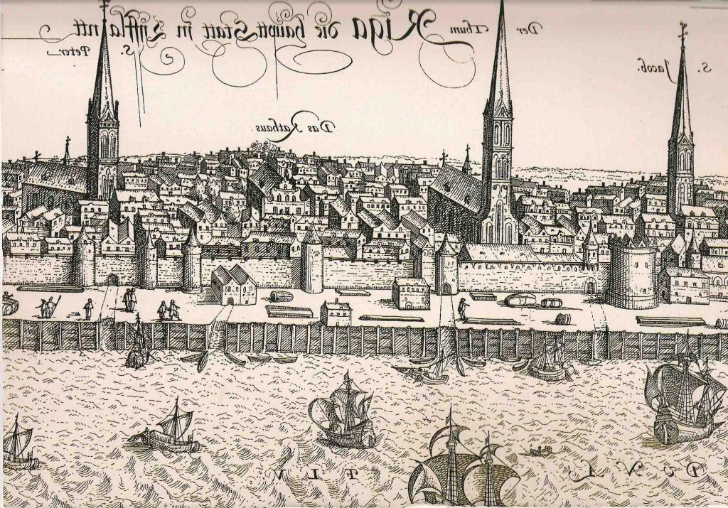 Ryga, senovinis piešinys