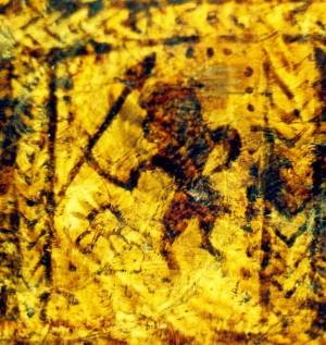 Saulės vaduotojas? Piešinys ant XVI a. apeiginio kaušo, J.Vaiškūno nuotr.