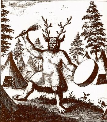 Šamanas su elnio ragais, Rytų Rusija