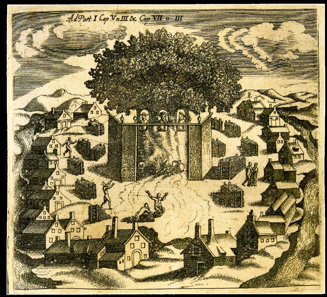 Prūsų Romuva, pagal Kristoforą Hartknochą, 1684.