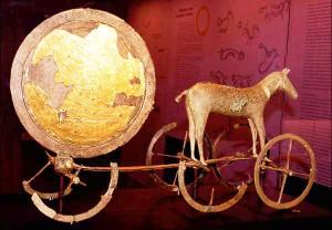 """""""Saulės vežimas"""", Danija, Bronzos amžius (XIV-XV a. pr. m. e.)"""
