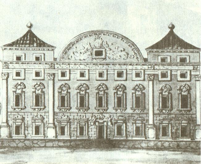 Sapiegū rūmai iki 1840 m. rekonstrukcijos