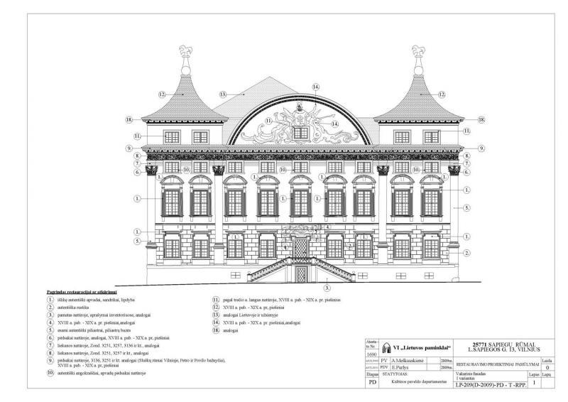Sapiegų rūmų restauravimo projektas