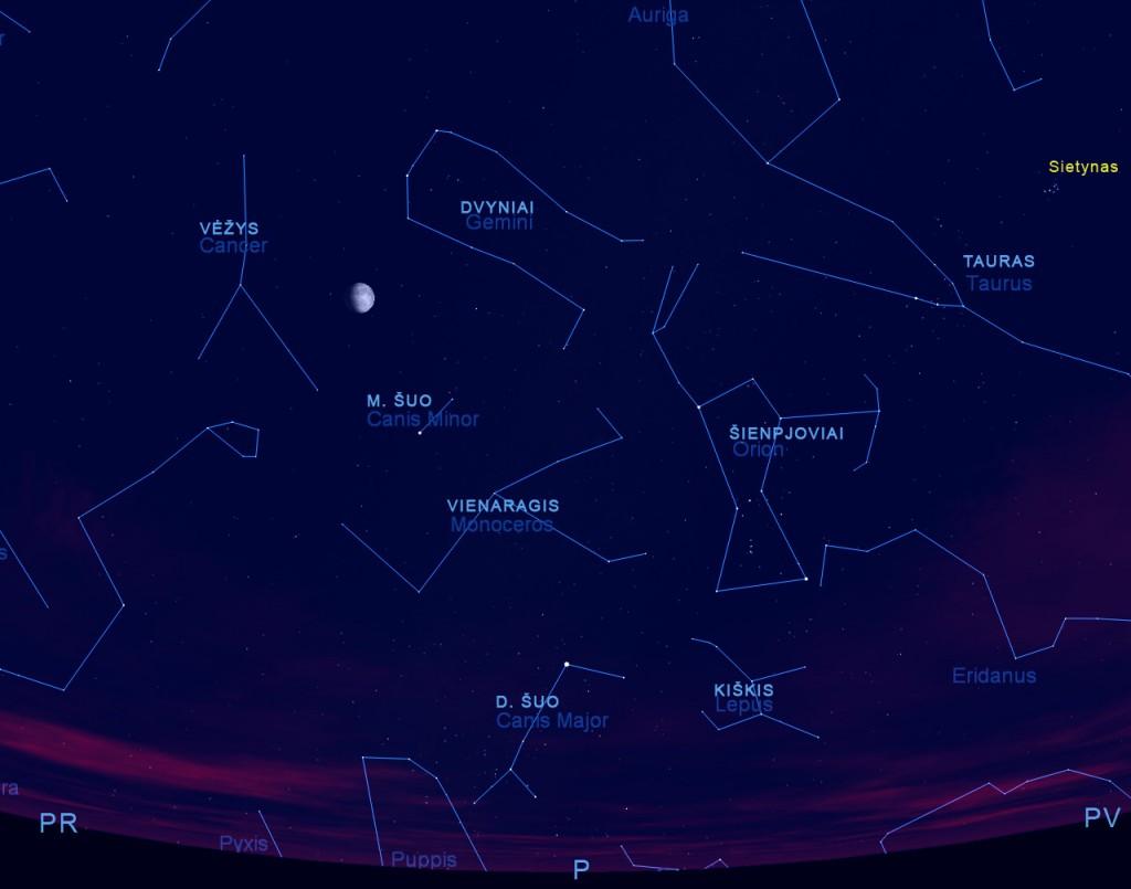 Kovo dangus, kovo 15 d., 20 val., pieš. sukurtas su Starry Night Pro5