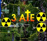 Trys atominės elektrinės