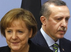 A. Merkel ir R. T .Erdoganas | guardian.co.uk nuotr.