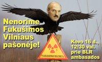 """Protesto akcija """"Nenorime Fukušimos Vilniaus pašonėje!"""""""