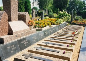 Paminklas nužudytiems laisvės kovų dalyviams atminti Juodupės kapinėse (Rokiškio r.). Autorius G. Nasvytis, V. Kalpoko nuotrauka, kam.lt