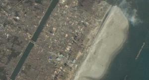 Arahama, Japonija. Matomi katastrofos padariniai.