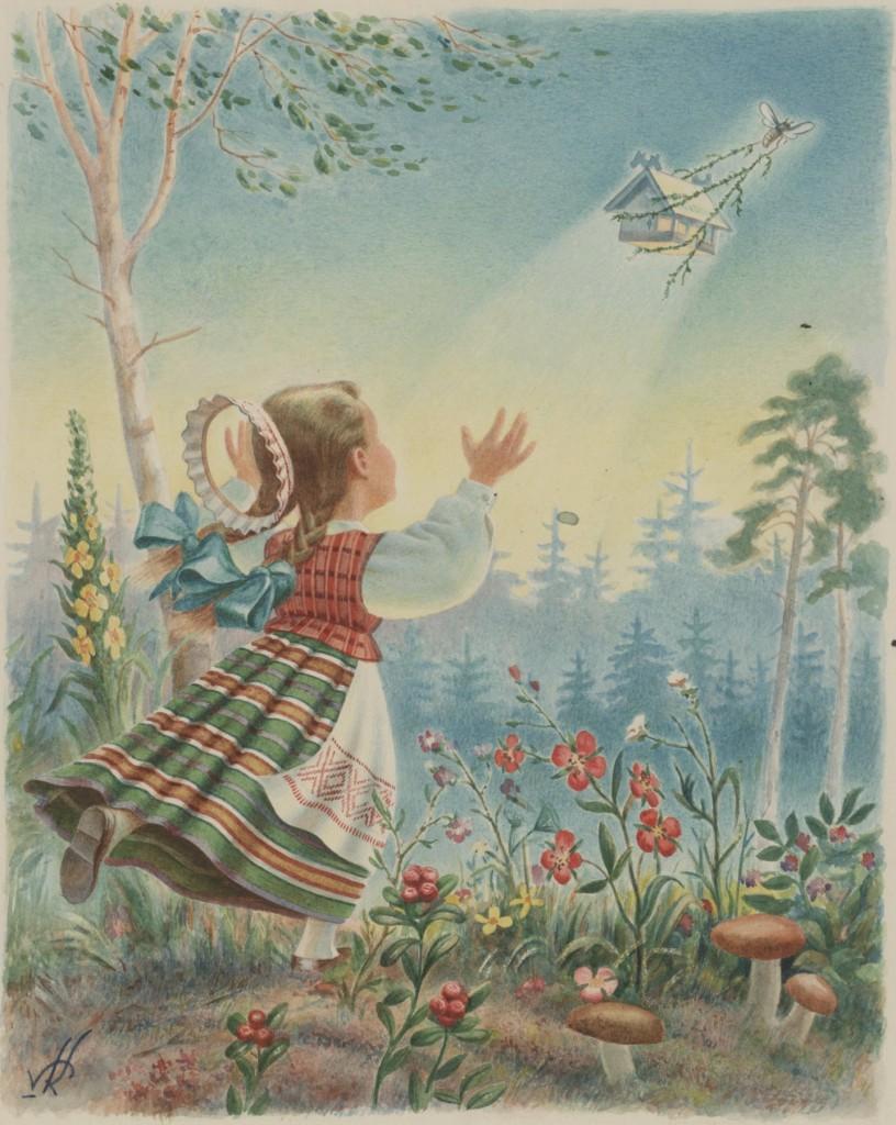 """V.Kosciuška. Lietuvių liaudies dainai """"Aš turiu svirnelį"""". 1955. LDM"""