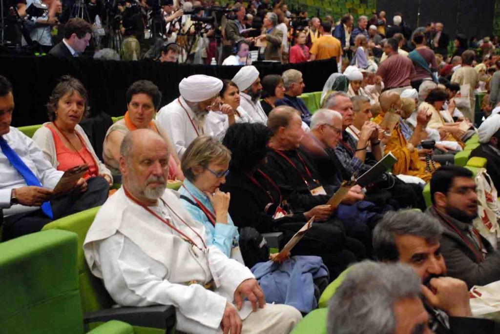 Jonas Trinkūnas 2009 m. Pasaulio Religijų Parlamente Melburne