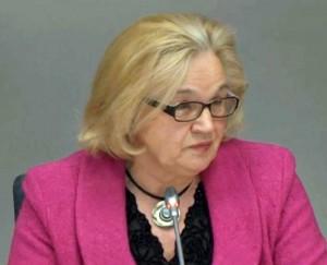 Klausymuose pasisako Seimo teisės departamento atstovė Marytė Bagdonavičienė