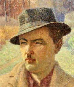Vaclovas Kosciuška. Autoportretas. D. Al. 45 x 39.5. Audronės Kosciuškienės nuosavybė