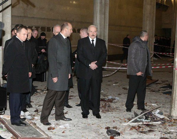 A.Lukašenka įvykio vietoje