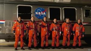 Paskutinio skrydžio įgula. NASA nuotr.