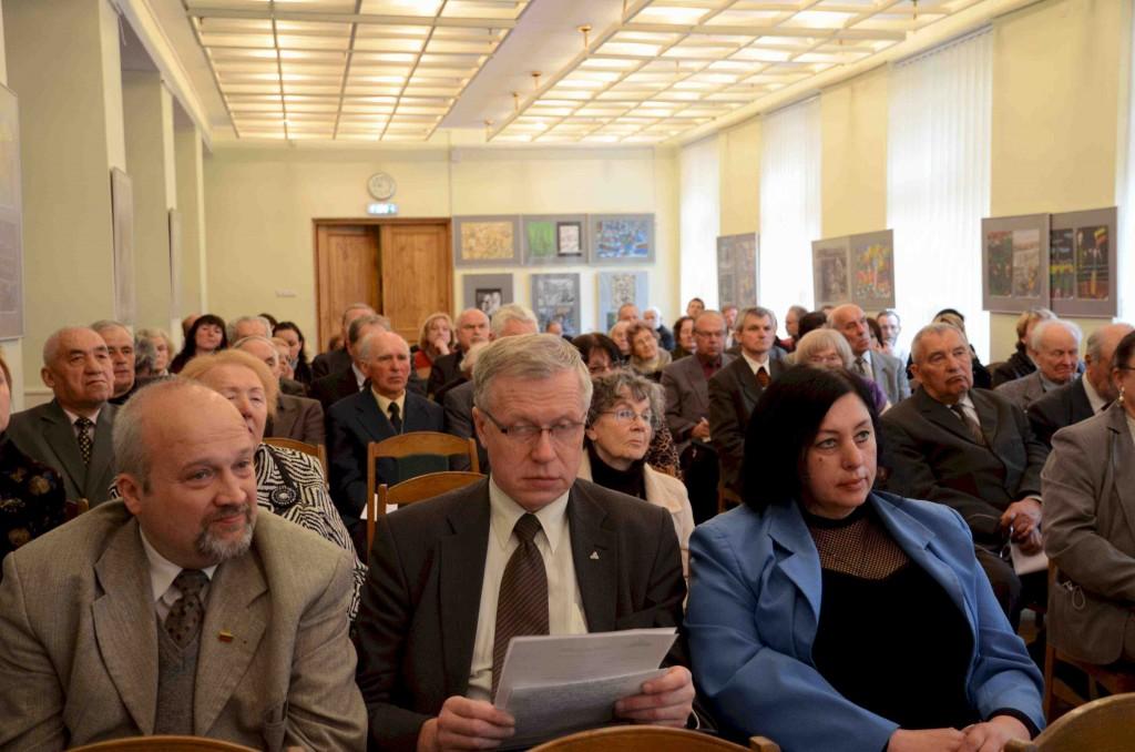 """""""Vilnijos"""" draugijos suvažiavme dalyvavo ir Seimo nariai (iš kairės) Gintaras Songaila ir Rytas Kupčinskas."""