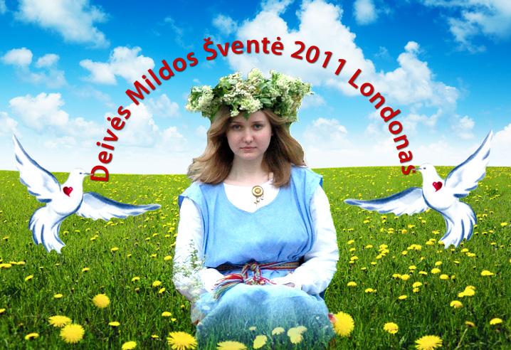 Deivės Mildos šventė Londone