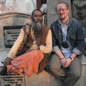 A.Beinorius su klajojančiu indų vienuoliu