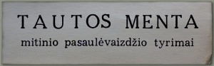 """Tautos menta"""