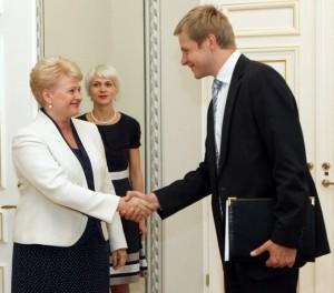 Prezidentė Dalia Grybauskaitė susitiko su teisingumo ministru Remigijumi Šimašiumi