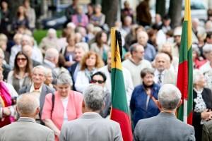 S.Daukanto aikštėje vyko penktųjų pulkininko Vytauto Pociūno žūties metinių minėjimas. Foto: DELFI (Š.Mažeikos nuotr.)