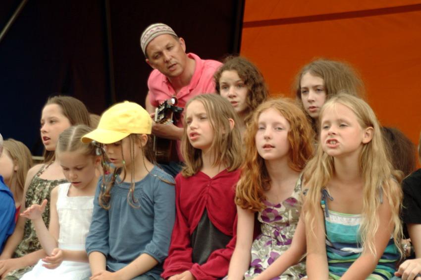 V.V. Landsbergis su vaikais