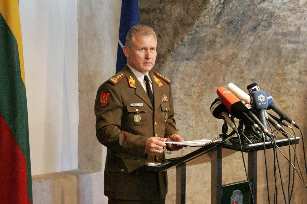 Generolas A.Pocius konferencijoje | G.Maksimovič nuotr.