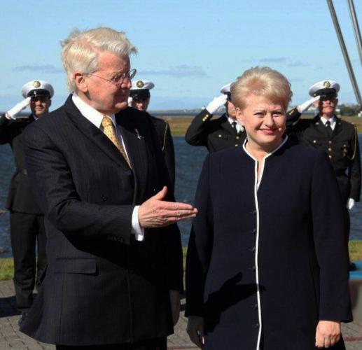 Dalia Grybauskaitė ir Islandijos Prezidentas Olafuras Ragnaras Grimssonas| president.lt nuotr.