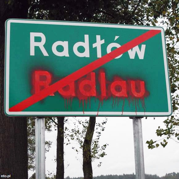 Išniekinti vokiški užrašai Lenkijoje 2008 m. rugsėjo menesį | nto.pl nuotr.
